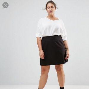 NWT ASOS Curvy Black Mini Skirt 22